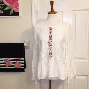 Lulu's embroidered top